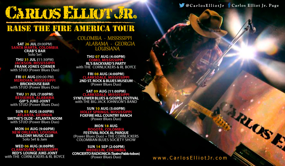 carlos elliot jr gira tour big jack johnson radionica concierto 2014