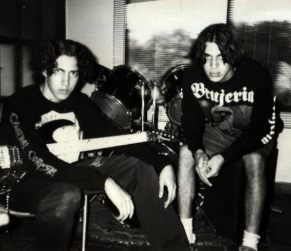Akelarre, la primera banda de Rafael (izquierda) en Cali (1995-1996).