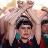 Dafne Valdés, una de las integrantes del colectivo feminista Las Tesis y autoras de la intervención viral 'Un violador en tu camino'. EFE/ Alberto Valdés/Archivo
