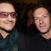 Bono y Chris Martin. Foto tomada de Coldplaying