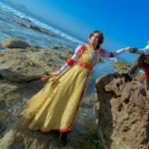 Jenny como Cristina Vespucci y Jorge como Ezio Auditore