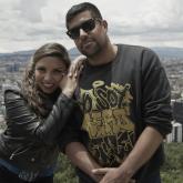 Diana Avella y Carlos Zamora. Foto tomada de Facebook: Diana Avella Hip Hop.