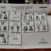 Tarjetón de elecciones presidenciales Colombia 2018.
