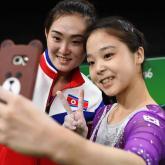 Selfie de gimnastas coreanas en Río 2016. Foto: Reuters