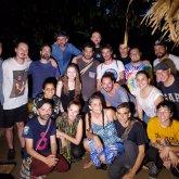 Todo el equipo de la Caravana Radiónica Caribe con los Selvatorium