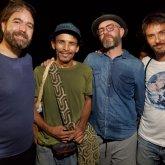 JuanMa, Álvaro y Pucho de Vetusta Morla con Daudi