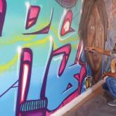 Arte urbano en las paredes del Museo de Arte Moderno de Bucaramanga