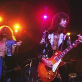 Led Zeppelin en la gira de 1973 en el Madison Square Garden.