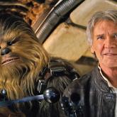 Chewbacca y Han Solo (Harrison Ford) en Star Wars Episodio VII.