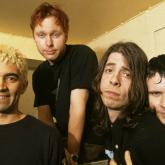 La primera formación de Foo Fighters: Pat Smear, Nate Mendel, Dave Grohl y William Goldsmith.