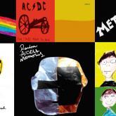 100 carátulas de discos pintadas por una niña de 6 años