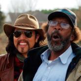 Carlos Elliot Jr. con la leyenda del blues RL Boyce
