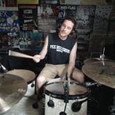 Kye Smith, 'el mejor baterista del mundo'. Foto tomada de su Facebook.