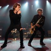 Mick Jagger junto a Keith Richards en Los Ángeles, 2016. Foto por Kevin Mazur .