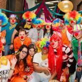 También celebramos Halloween. Nos tocó de payasos en el Circo de RTVC. Octubre de 2014.