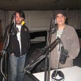 Iván García y Andrés Durán en el antiguo máster de Radiónica. 2008.