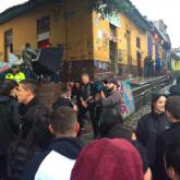 Metallica paseando por el centro de Bogotá