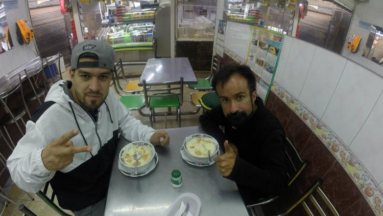 Ali Aka Mind y René Segura en La Plaza Paloquemao en Bogotá