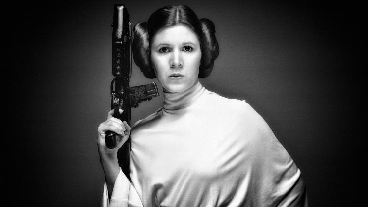 Carrie Frances Fisher (1956 - 2016).