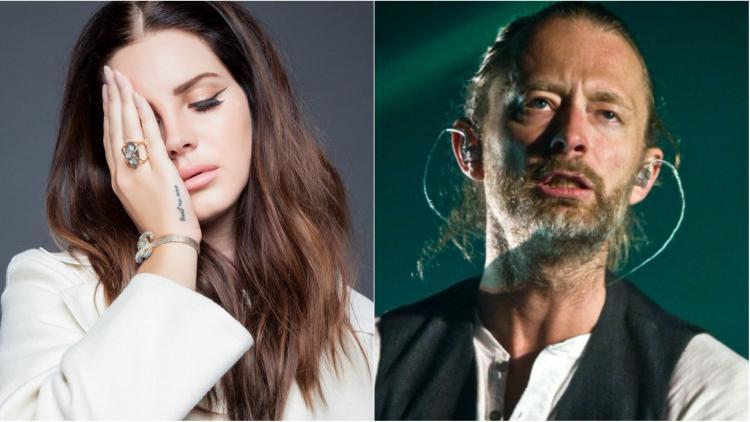 Thom Yorke de Radiohead y Lana Del Rey. Imagen tomada de www.rockandpop.cl