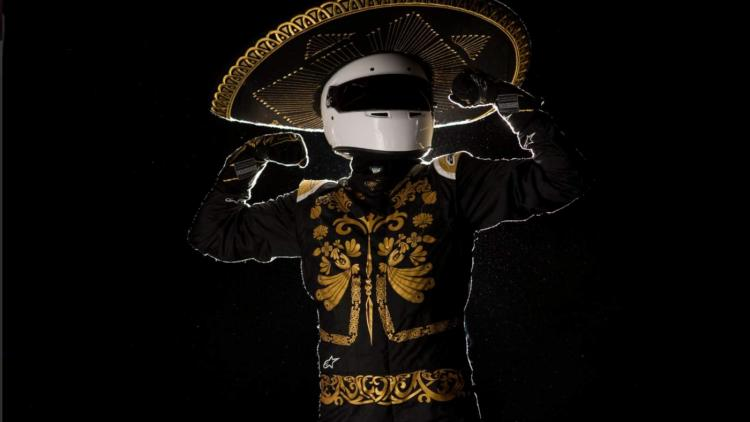 El piloto Mariachi, imagen del GP de México 2019.