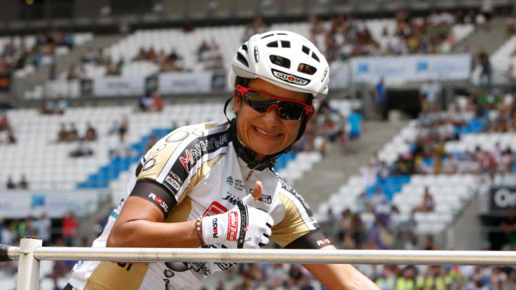 Ana Cristina Sanabria, ciclista colombiana.