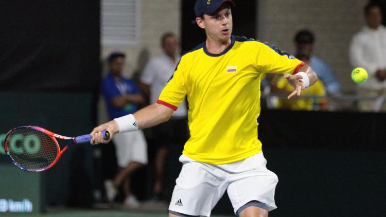 Colombia en la Copa Davis. Foto de Colprensa.