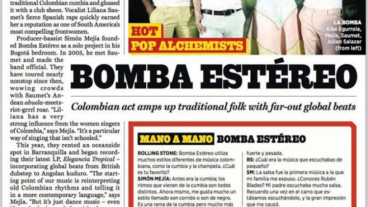 Bomba Estéreo en el 'Latin Hot List' de Rolling Stone USA