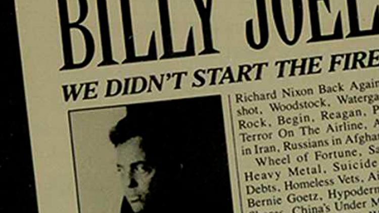 El fuego lo comenzó Billy Joel