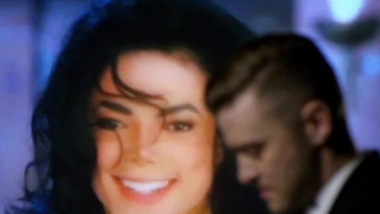 Jackson y Timberlake en el vídeo de 'Love Never Felt So Good'
