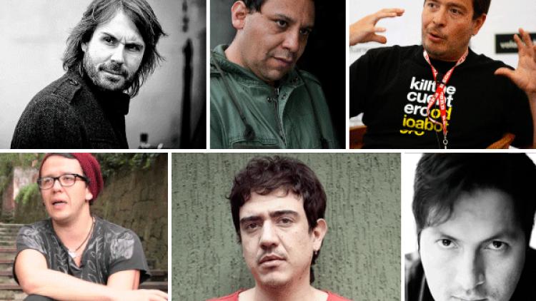 Andi Baiz, Harold Trompetero, Carlos Moreno, Rubén Mendoza, Óscar Ruiz Navia, Jorge Navas. Directores de cine colombiano.