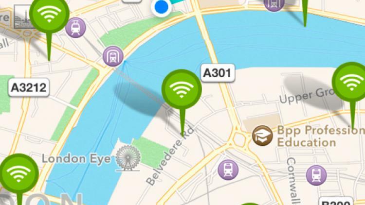 Encuentren WiFi gratis con WifiMapper