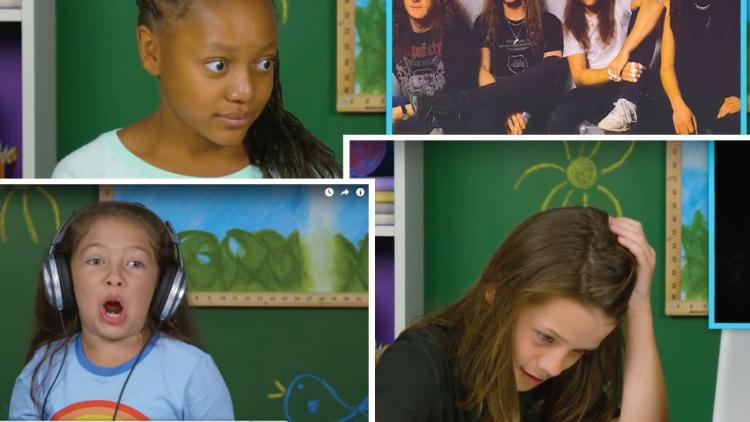 Así reaccionaron varios niños al escuchar por primera vez a Metallica