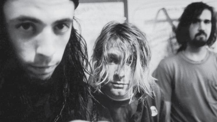 Dave Grohl, Kurt Cobain y Krist Novoselic, integrantes de Nirvana y protagonistas del documental.