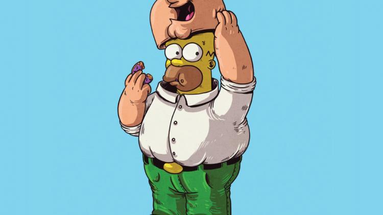 Peter Griffin de Family Guy realmente es Homero Simpson.