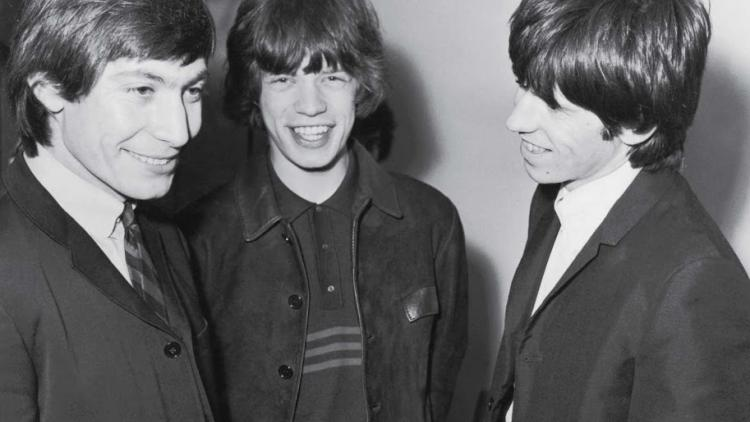 Charlie Watts, Mick Jagger y Keith Richards en 1965