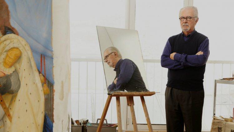 Botero en su estudio - Foto: OLEG COVIAN