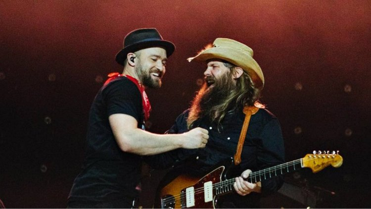 Justin Timberlake y Chris Stapleton / Foto Andy Barron/Chris Stapleton/Instagram