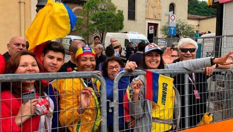 Colombianos en el Giro de Italia 2018. Foto: Señal Colombia