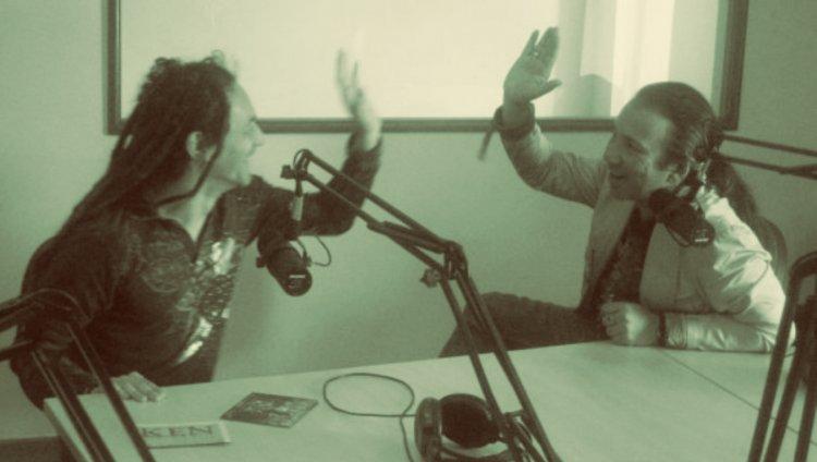 Dilson Díaz de La Pestilencia y Elkin Ramírez de Kraken en Radiónica