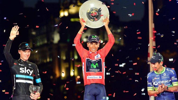 Nairo Quintana campeón de la Vuelta a España. Foto: AFP