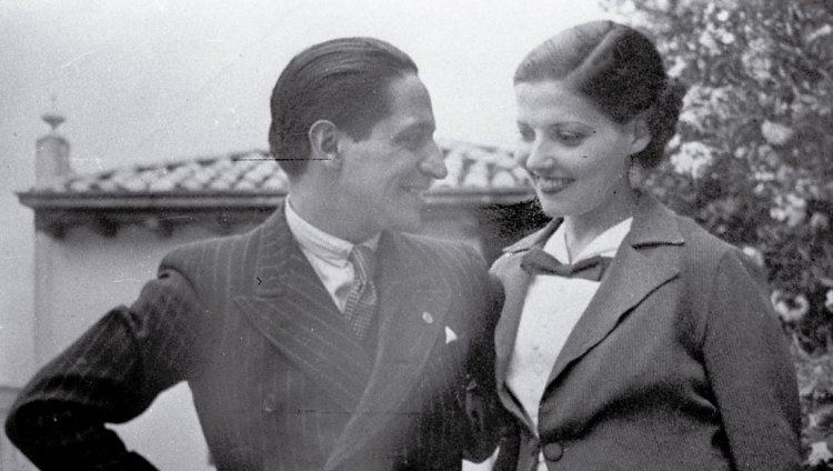 Jorge Eliecer Gaitán y Amparo Jaramillo de Gaitán, su esposa. Foto: Colprensa.