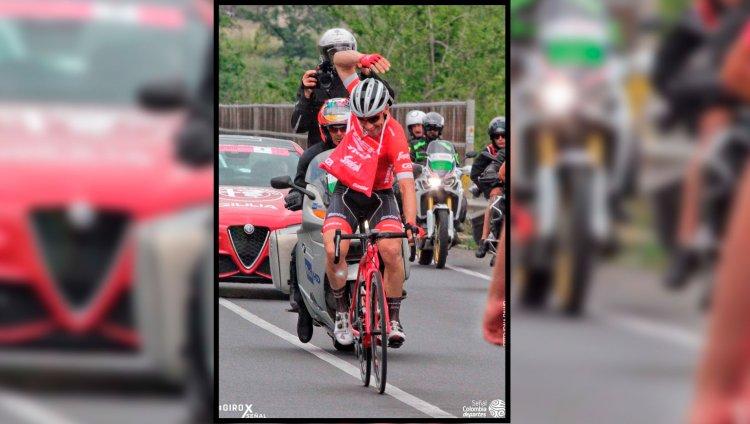 Rodolfo Torres, ciclista colombiano. Foto de Señal Colombia.