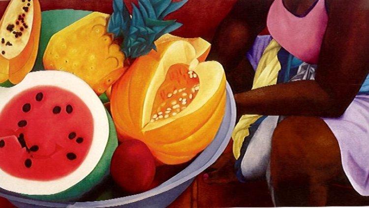Obra de Ana Mercedes Hoyos. Foto tomada de: Heroínas