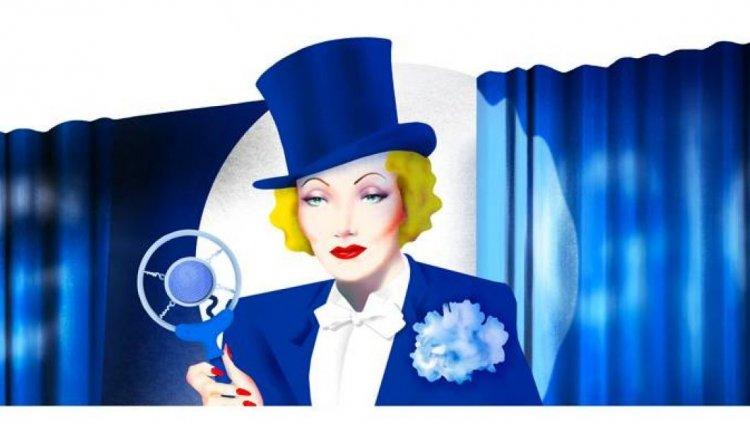 Marlene Dietrich en el Doodle de Google.