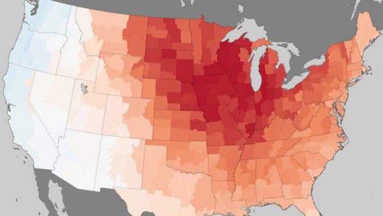 El periodo más caliente de Estados Unidos en 120 años