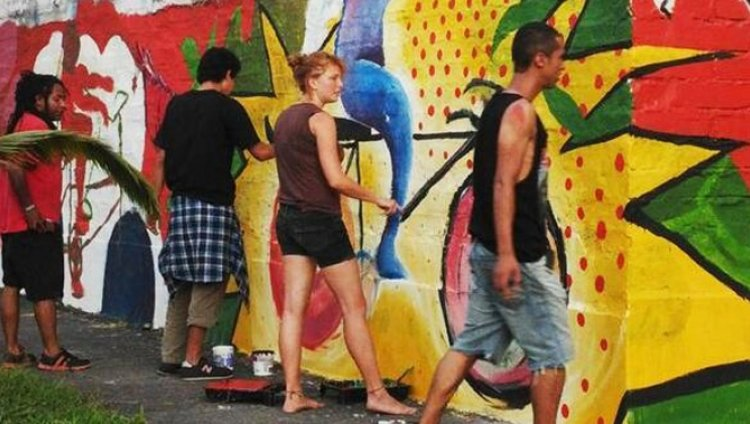 La Ciclopintada es arte y deporte en Medellín