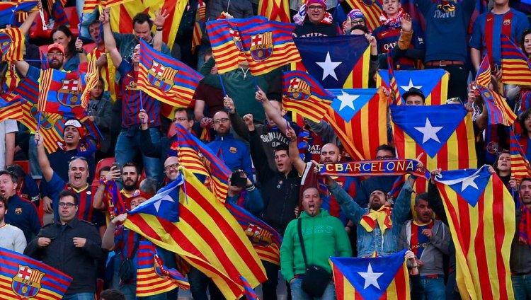 Hinchas del FC Barcelona. Foto: Gonzalo Arroyo Moreno/Getty Images