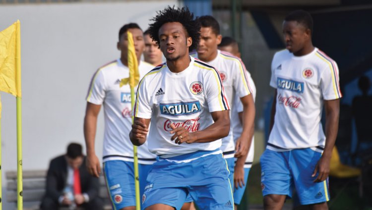 Selección Colombia entrenando. Foto cortesía del Departamento de Prensa Federación Colombiana de Fútbol.