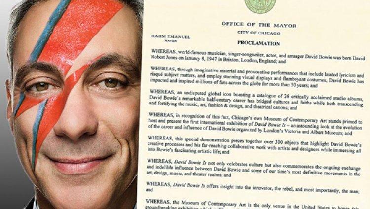 """Alcalde de Chicago declara el 23 de septiembre como """"Día David Bowie"""""""